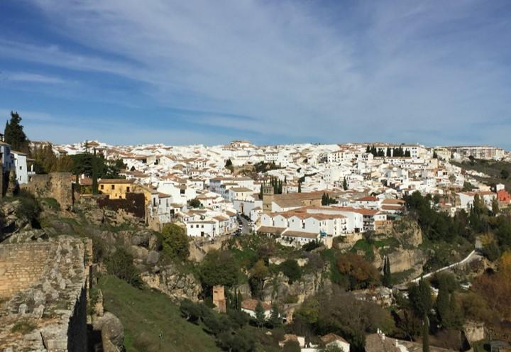 panorama miasta widziana z poziomu fortyfikacji miejskich