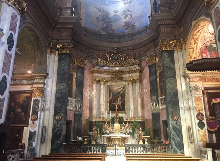 wnętrze kaplicy św. Rity