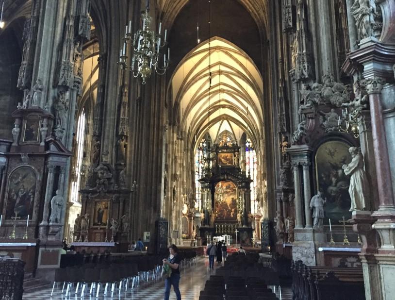 wnętrze Katedry św. Szczepana