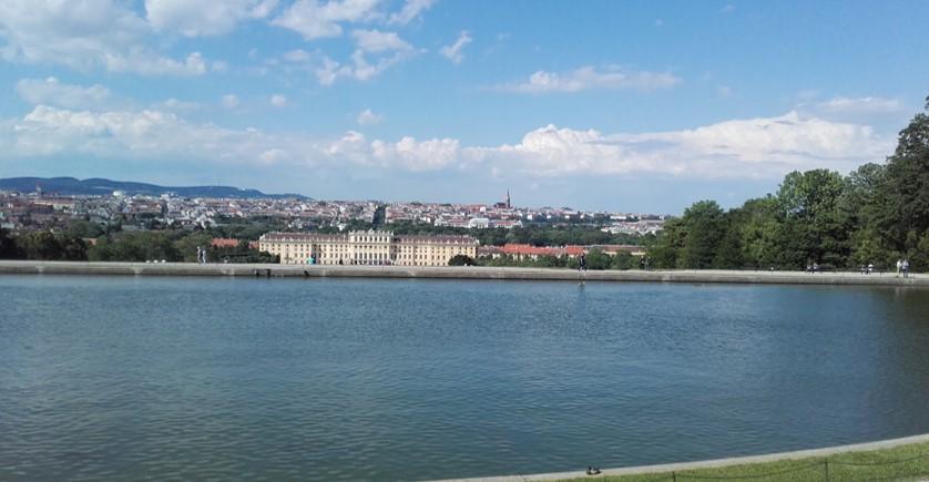 Schönbrunn - panorama Wiednia