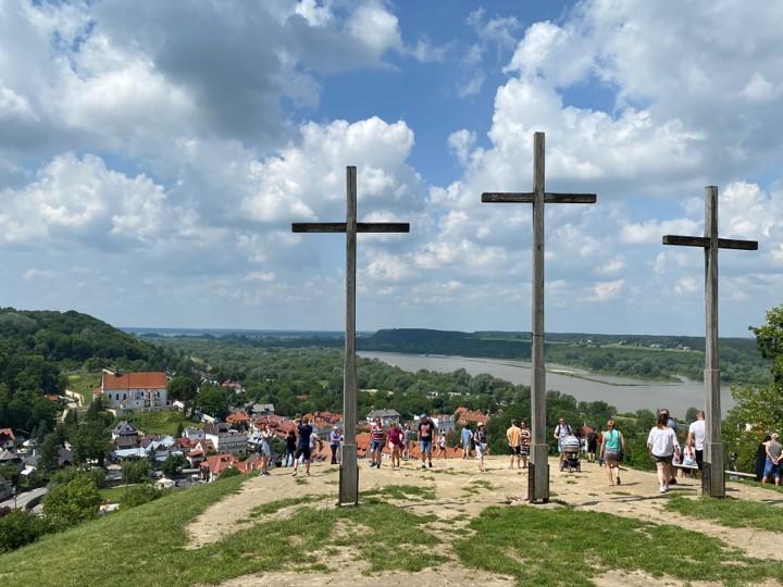 widok z Góry Trzech Krzyży