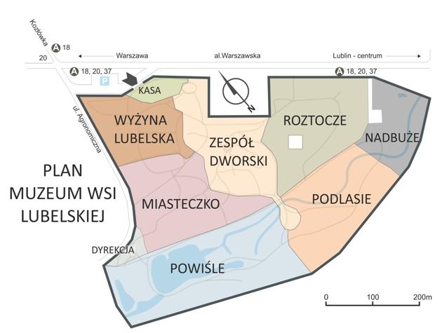 Muzeum Wsi Lubelskiej - plan
